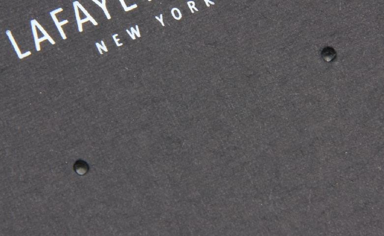 Black Wedding Earring Card Holders Packaging Box Linings detail