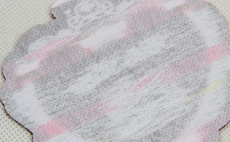 Cute Fancy Heart Shape Clothing Woven Labels back