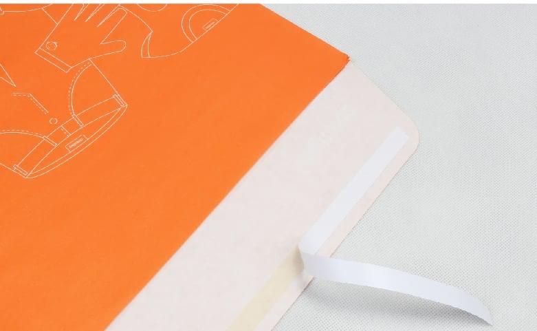 Envelope Orange Garment Paper Bags open