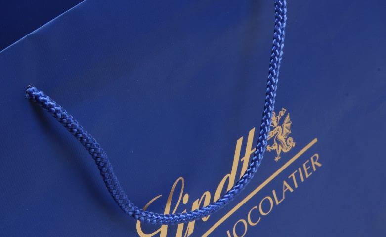 Royal Blue Garment Paper Bags Set handle