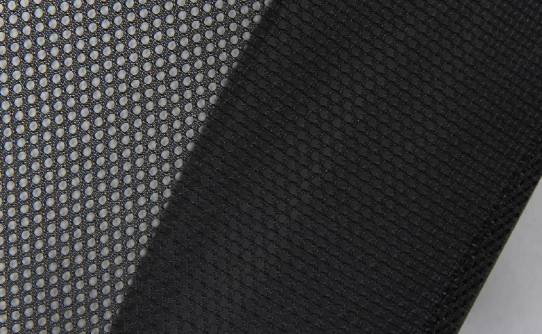 Black See-thru Mesh Cloth Shopping Baskets material