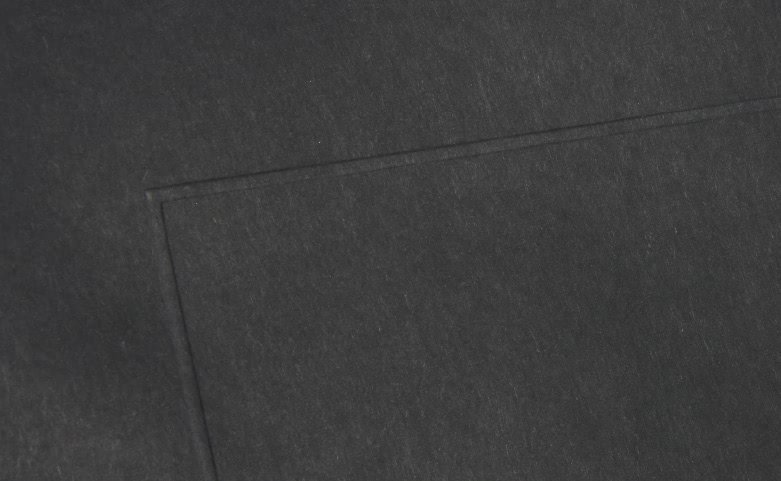 Classic Black Hot Stamped Garment Paper Bags detail