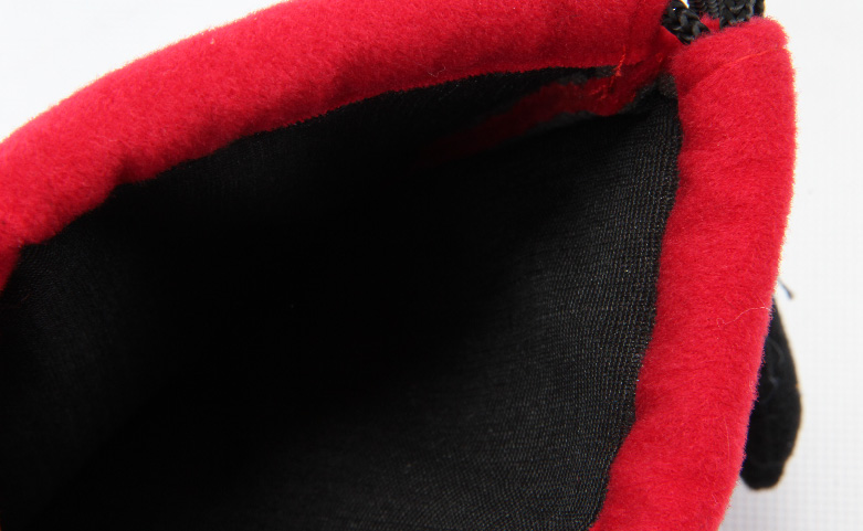 Cute Red Lint Drawstring Jewelry Bags open