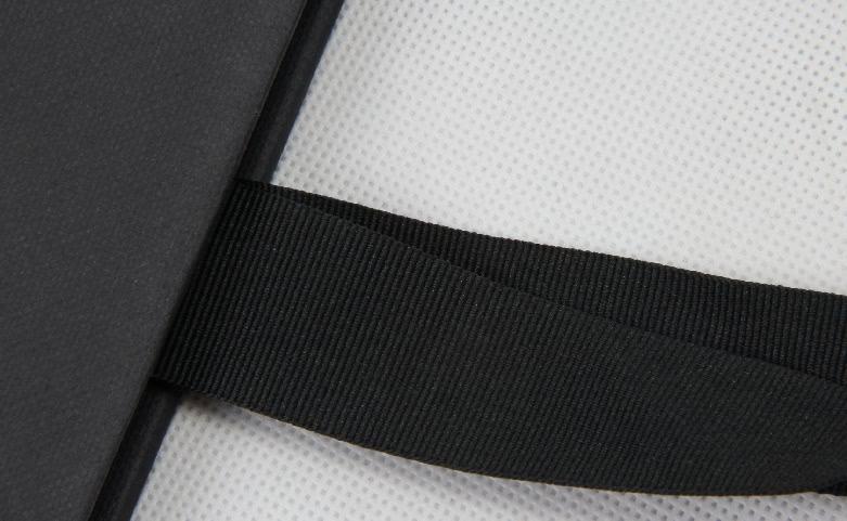 Decent Black Garment Paper Carrier Bags handle