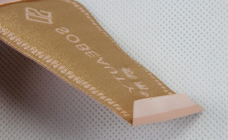 Elegant Woven Neck Labels For Women's Wear detail