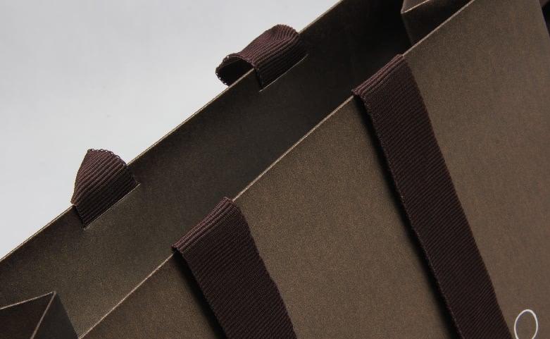 Fantastic Iridescent Garment Paper Bags Set handle