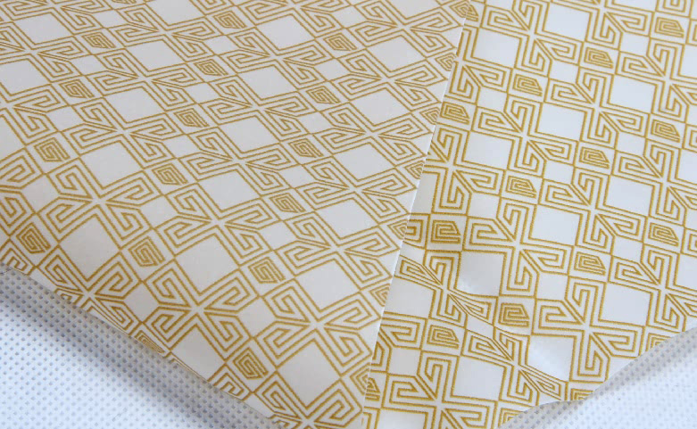 Geometric Garment Wrapping Tissue Paper detail
