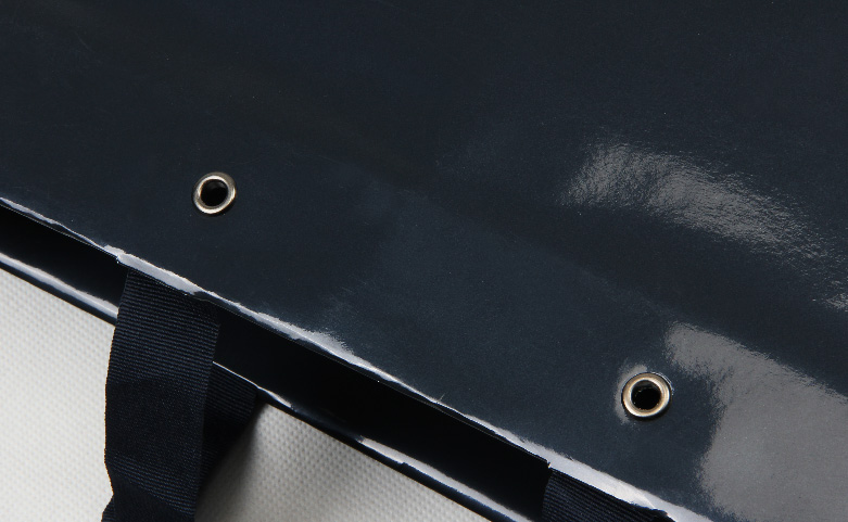 Gloss Black Jewelry Paper Bags detail