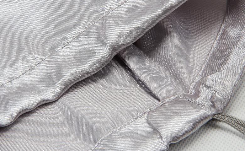 Glossy Satin Drawstring Underwear Bags open