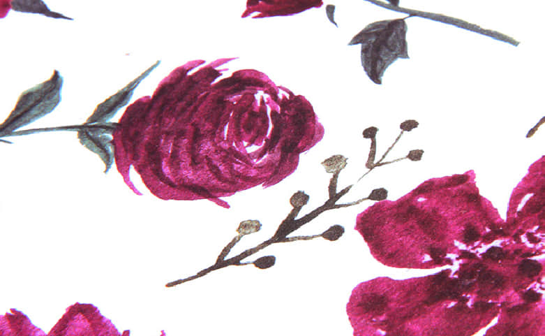 Large Purple Roses Gift Bags With Red Ribbons print