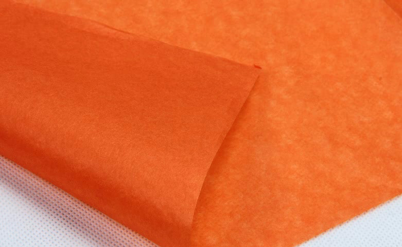 Orange Wrapping Cotton Tissue Paper technique