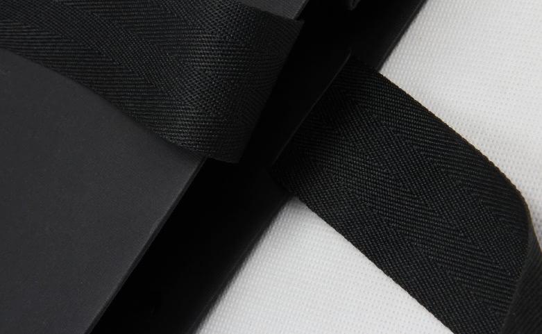 Premium Luxury Black Garment Paper Bags handle