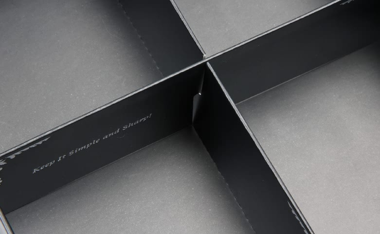 Square Folding Necktie Gift Boxes With Inserts window