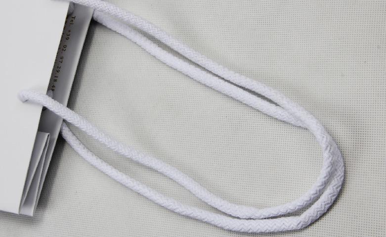 White Laminated Matt Garment Paper Bags Set handle