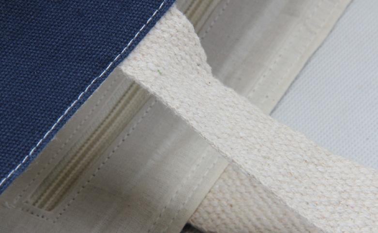 Heavy Duty Denim Blue Canvas Tote Bags Handbags handle