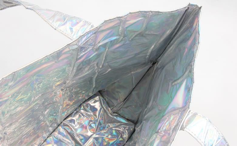 Rainbow PVC Shopping Bags lining
