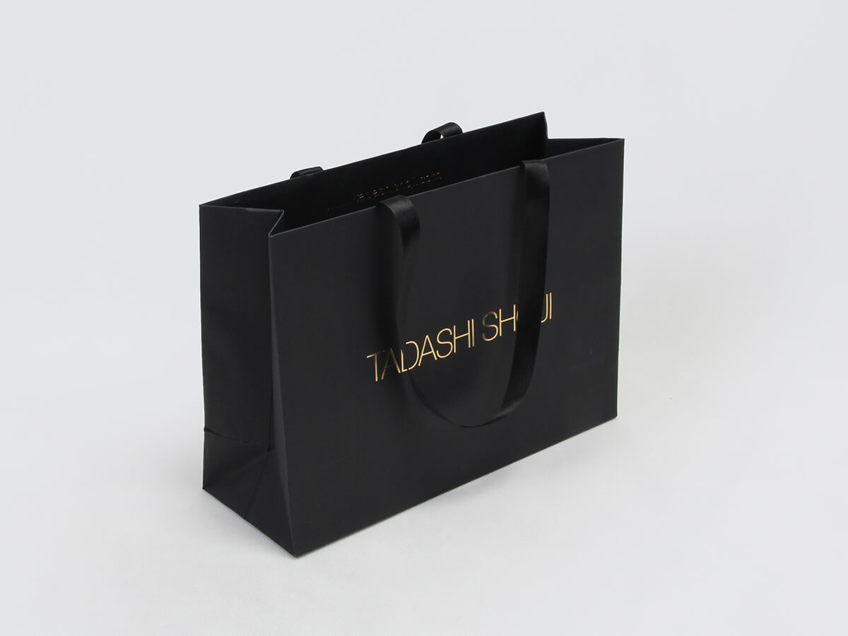 Black Dyed Paper Garment Shopping Bags