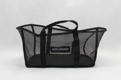 Black See-thru Mesh Cloth Shopping Baskets