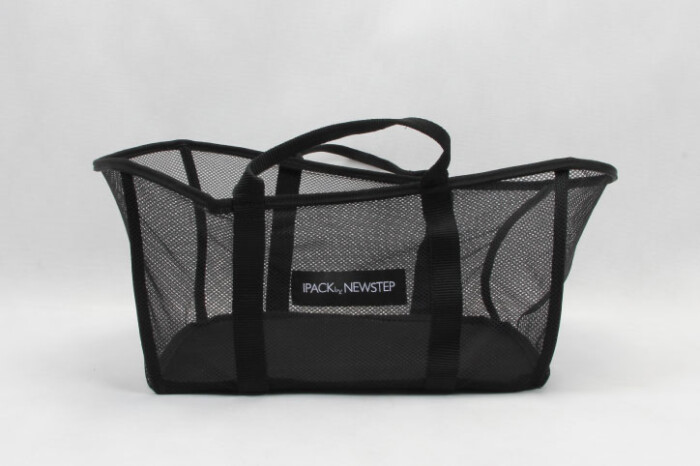 Black See-thru Mesh Cloth Shopping Baskets