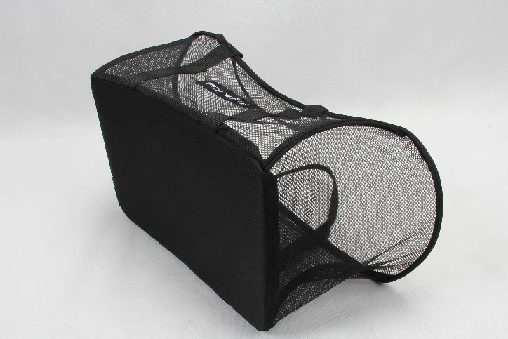 Black See-thru Mesh Cloth Shopping Baskets base