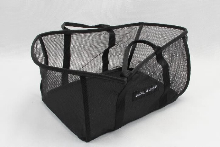 Black See-thru Mesh Cloth Shopping Baskets side