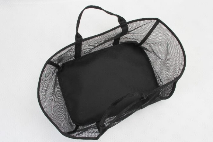 Black See-thru Mesh Cloth Shopping Baskets top