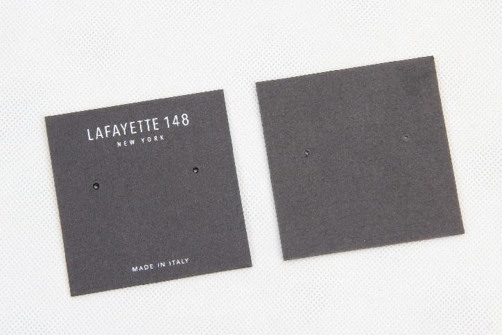 Black Wedding Earring Card Holders Packaging Box Linings