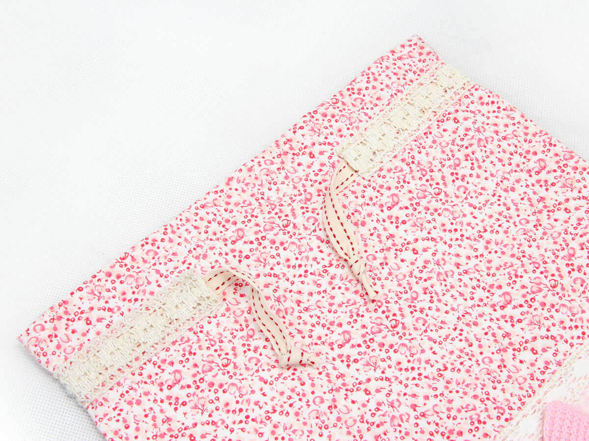 Bowknot Drawstring Underwear Bags Material