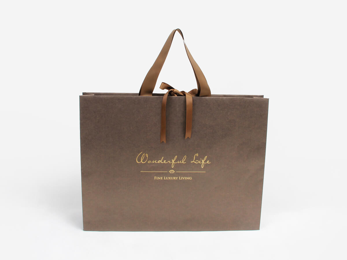 Bright Gold Iridescent Paper Shopping Gift Bags