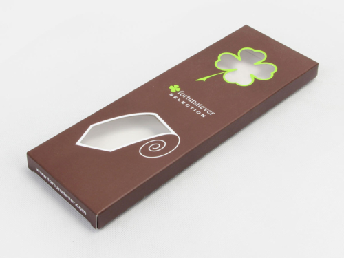 Brown Necktie Packaging Boxes With Clear Windows