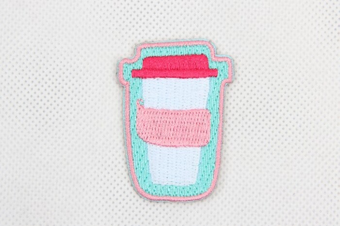Cartoon Cup Garment Embroidered Patch Stickers style