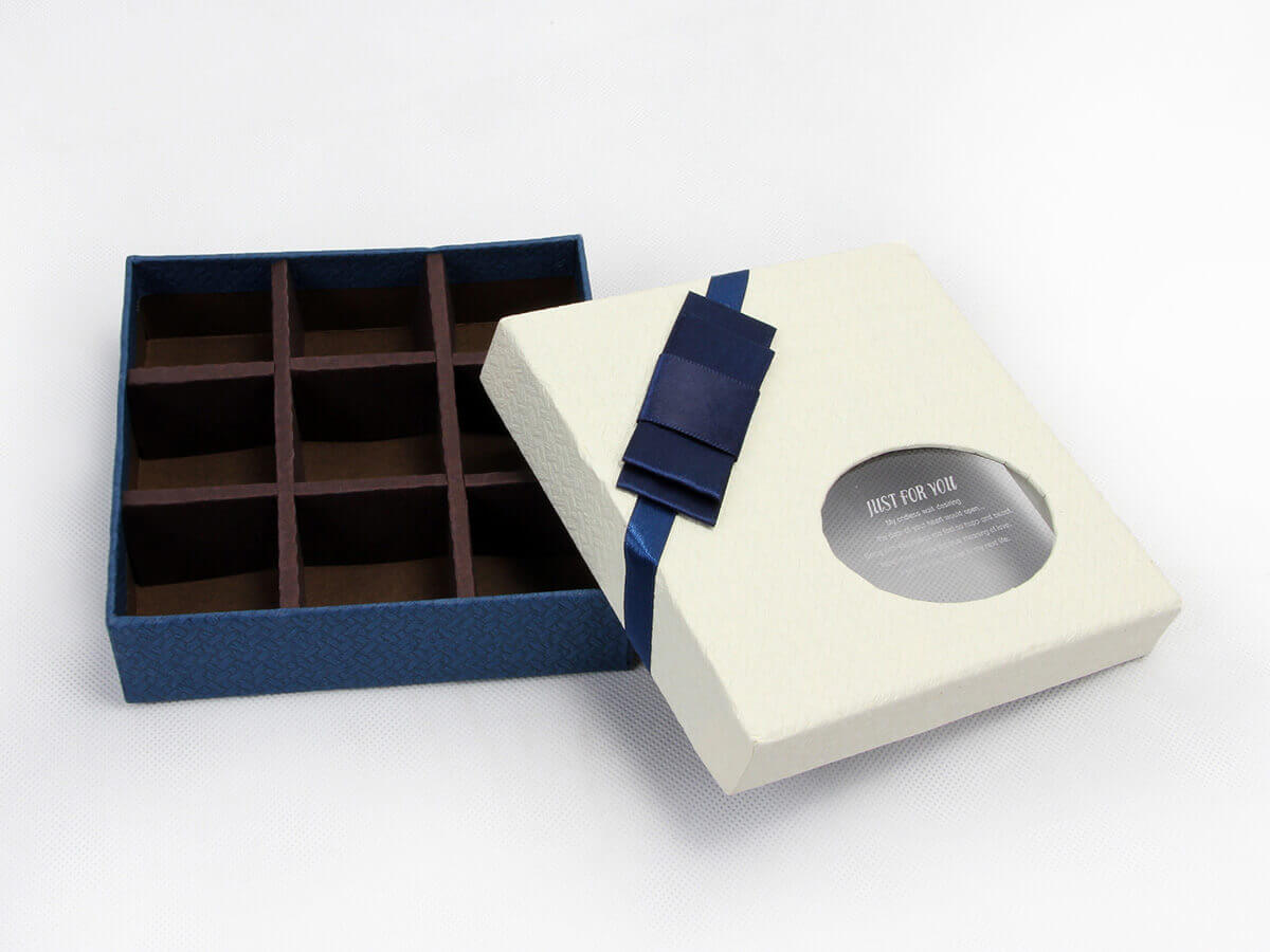 Chocolate Gift Packaging Boxes With PVC Window