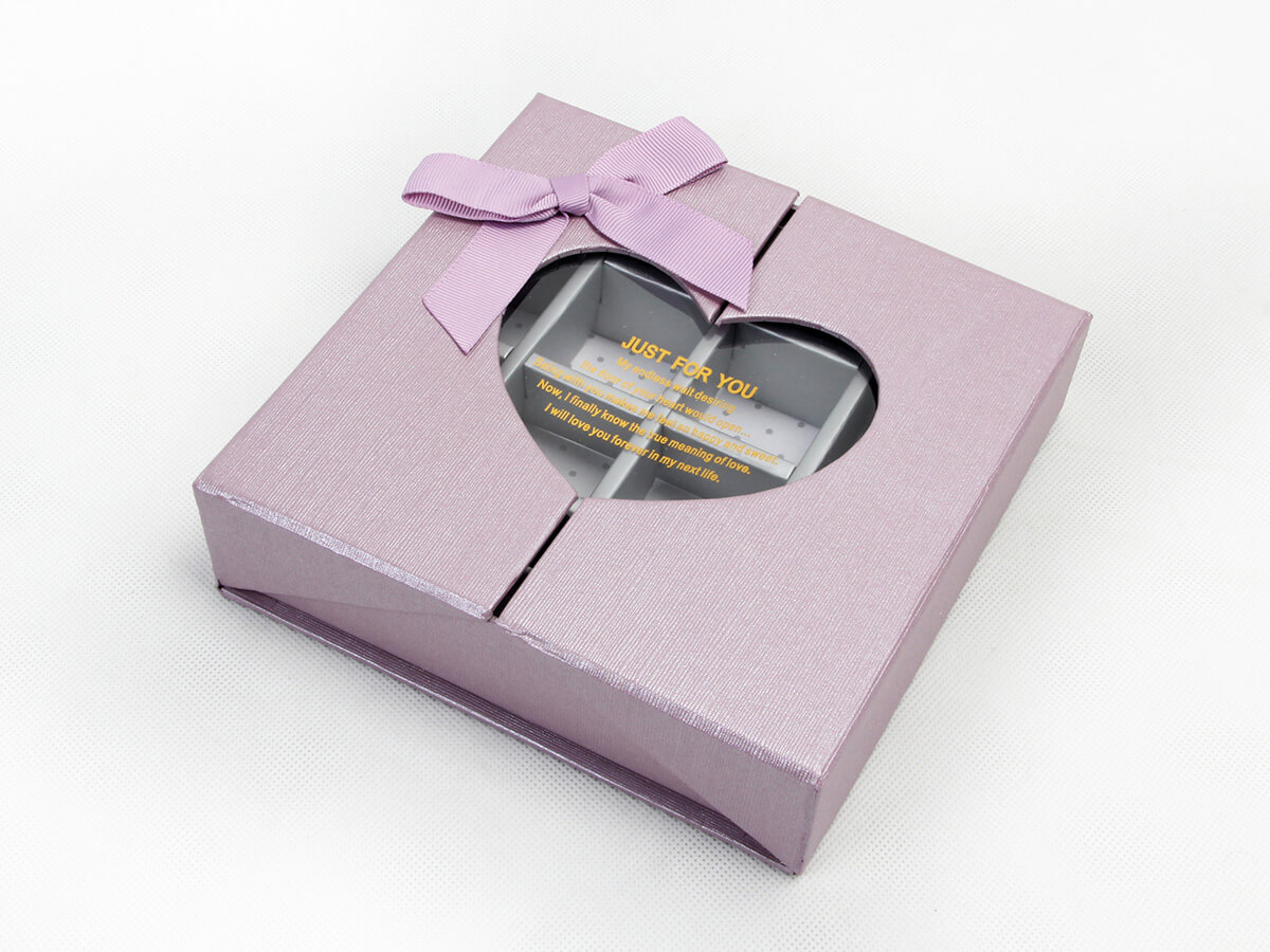 Chocolate Packaging Boxes Transparent Window Detail