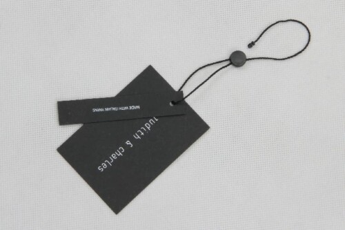 Classic Black Clothing Hangtags With Tablets
