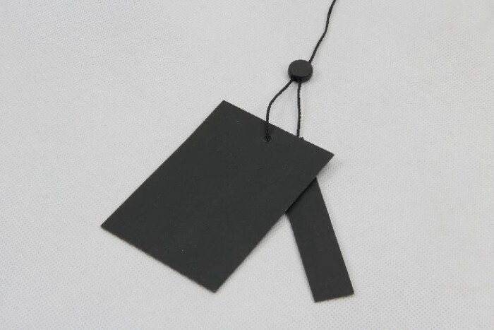 Classic Black Clothing Hangtags With Tablets back