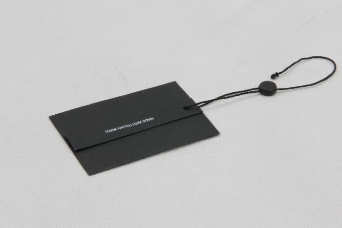 Classic Black Clothing Hangtags With Tablets style