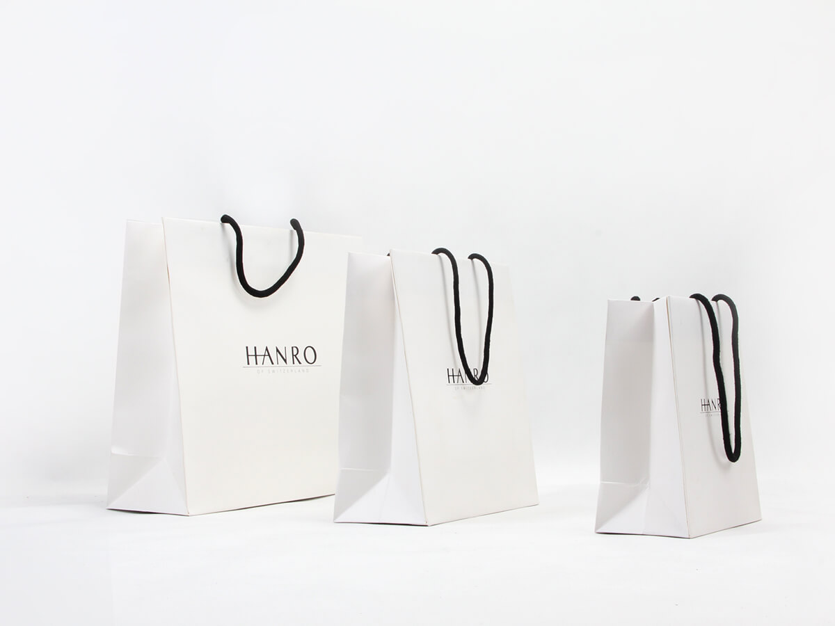 Classic Garment Shopping Paper Bags Side Display