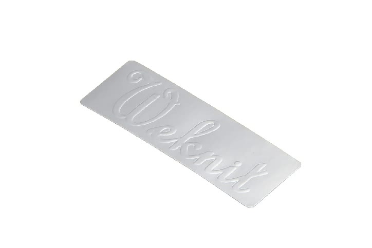Classic Rectangular Silver Seal Stickers style