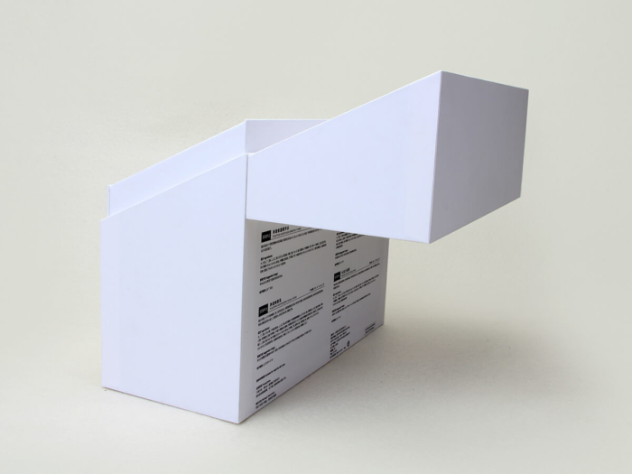 Cleansing Milk Packaging Boxes Clamshell Lid