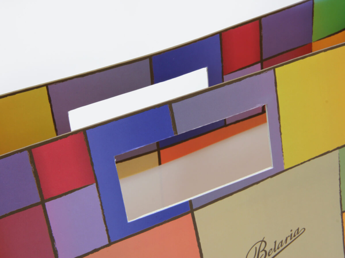 Colorful Blocks Punched Out Handle