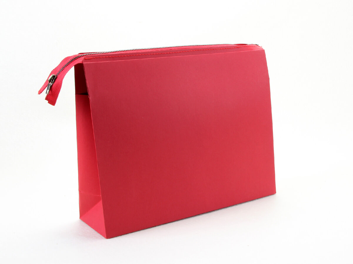 Colorful Eco-friendly Red Paper Handle Bag Display