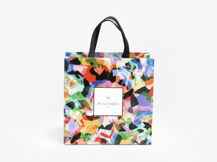 Colorful Women Garment Paper Bags Folding Display