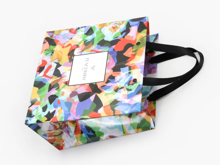 Colorful Women Garment Paper Bags Handle Detail