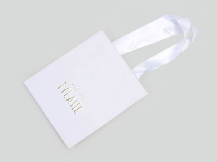 Cosmetic Make-up Shopping Paper Bags Folding Way
