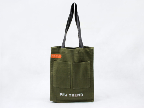 Cotton Tote Bags Handbags With Pu Handles