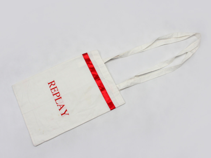 Cotton Tote Bags Hem Display