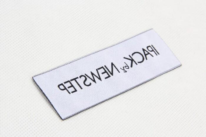 Custom Top Quality Garment Woven Labels back