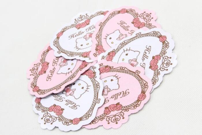Cute Fancy Heart Shape Clothing Woven Labels style