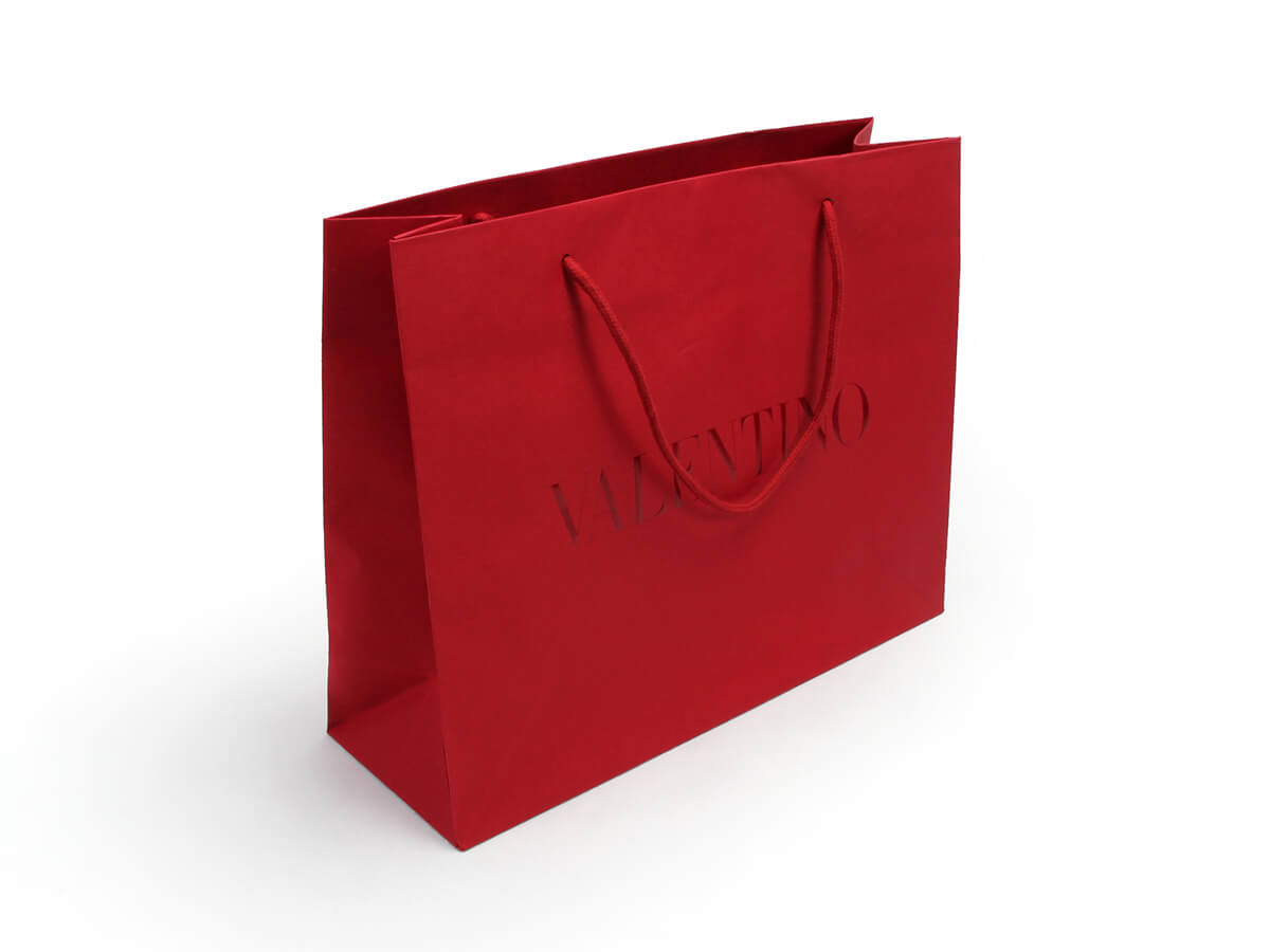 Dazzling Red Garment Paper Shopping Bags