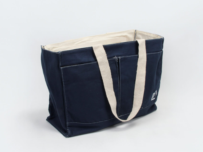 Denim Canvas Bags Display